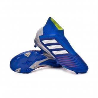 Scarpe   adidas Predator 19+ FG Junior Bold blue-Silver metallic-Football blue