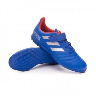 Chaussure de football  adidas Predator Tango 19.4 Turf H& Bold blue-Silver metallic-Active red