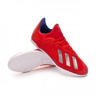 Zapatilla  adidas X Tango 18.3 IN Niño Active red-Silver metallic-Bold blue