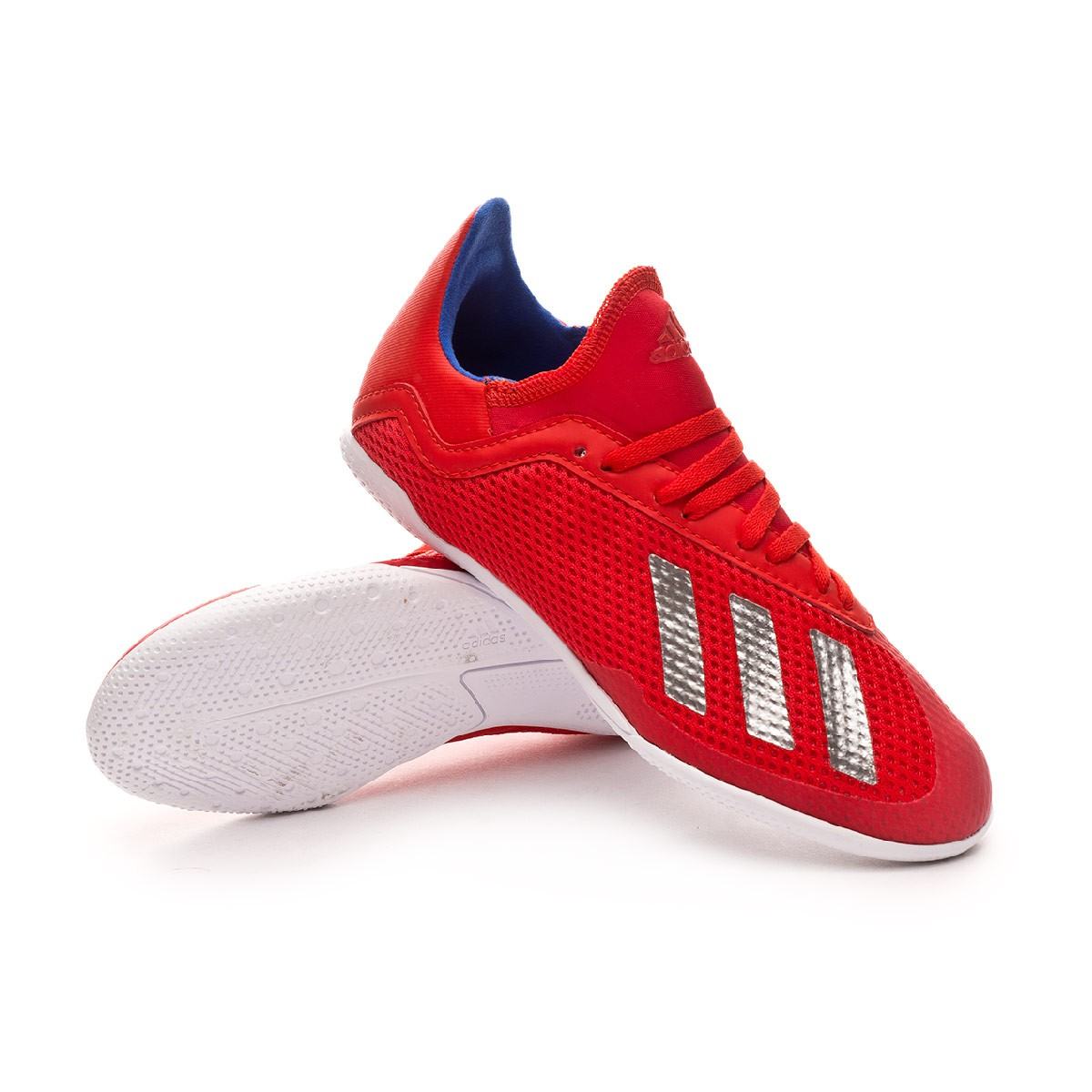 brand new e206b 93b17 Zapatilla X Tango 18.3 IN Niño Active red-Silver metallic-Bold blue