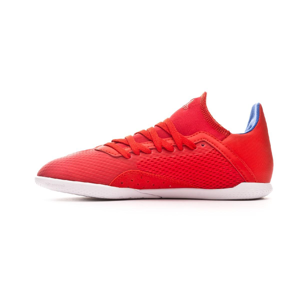 c97207390c937 Tenis adidas X Tango 18.3 IN Niño Active red-Silver metallic-Bold blue -  Tienda de fútbol Fútbol Emotion