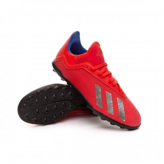Zapatilla  adidas X Tango 18.3 Turf Niño Active red-Silver metallic-Bold blue