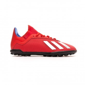 Football Boot  adidas Kids X Tango 18.3 Turf Active red-Silver metallic-Bold blue