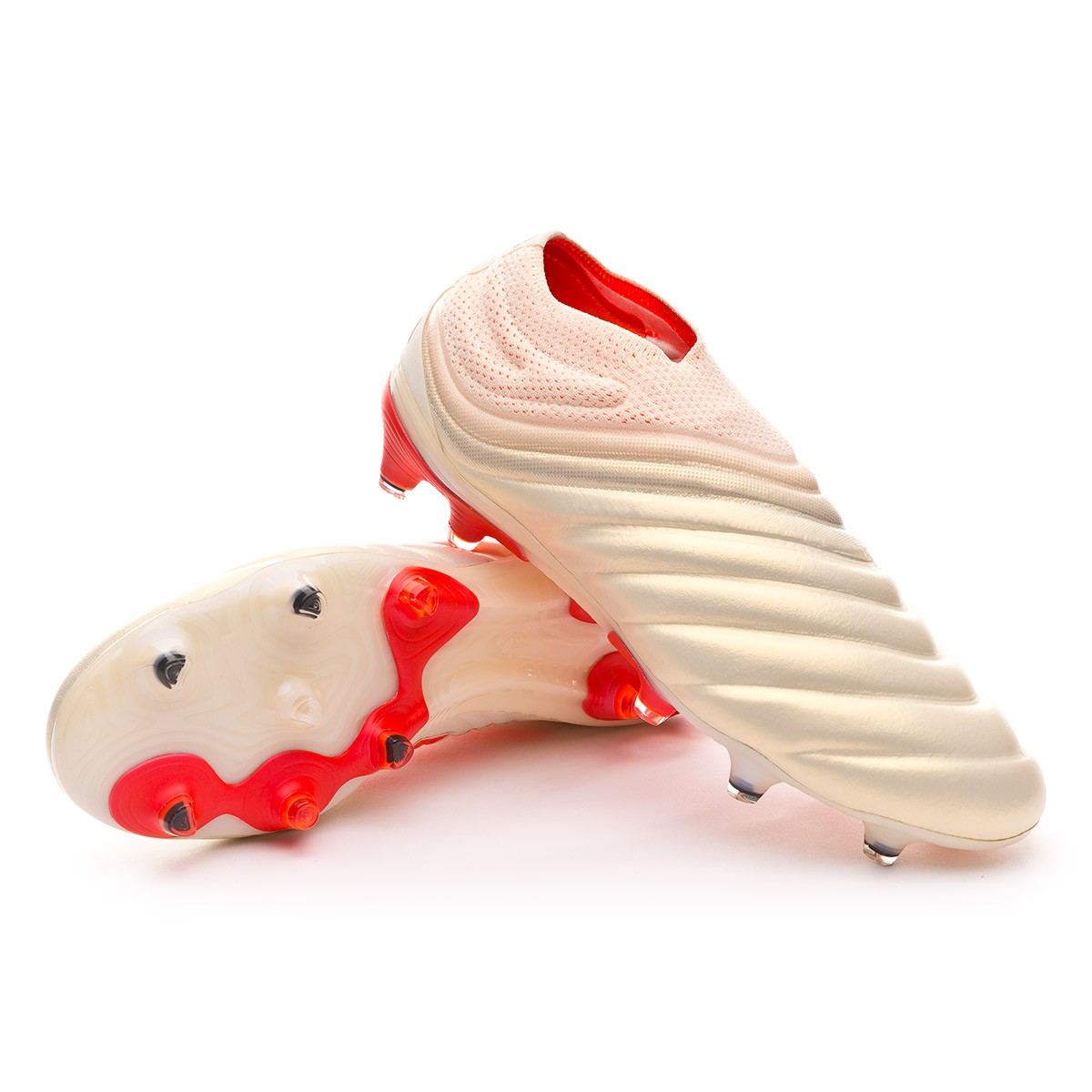 Boot adidas Copa 19+ FG Off white-Solar red-Off white - Football ... a32228333