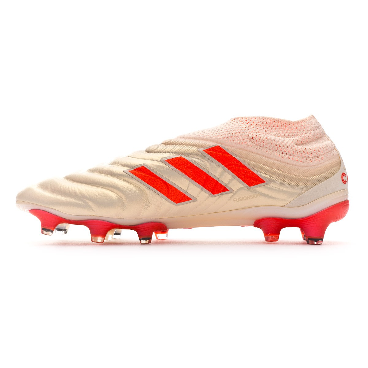 010718c27 Football Boots adidas Copa 19+ FG Off white-Solar red-Off white - Football  store Fútbol Emotion