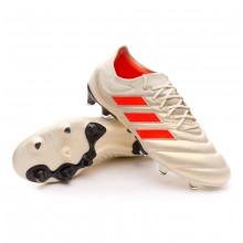 Football Boots Copa 19.1 FG Off white-Solar red-Core black