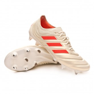Chuteira  adidas Copa 19.1 SG Off white-Solar red-Core black
