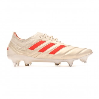 Chuteira adidas Copa 19.1 SG Off white-Solar red-Core black
