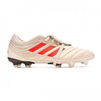 Chuteira adidas Copa Gloro 19.2 FG Off white-Solar red-Core black