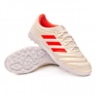 Football Boot  adidas Copa 19.3 Turf Off white-Solar red-White