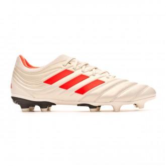 Chuteira adidas Copa 19.3 FG Off white-Solar red-Core black