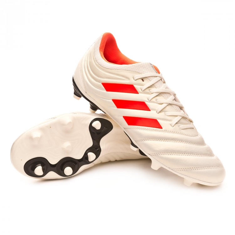 1551de3f887d5 Chuteira adidas Copa 19.3 FG Off white-Solar red-Core black - Loja ...