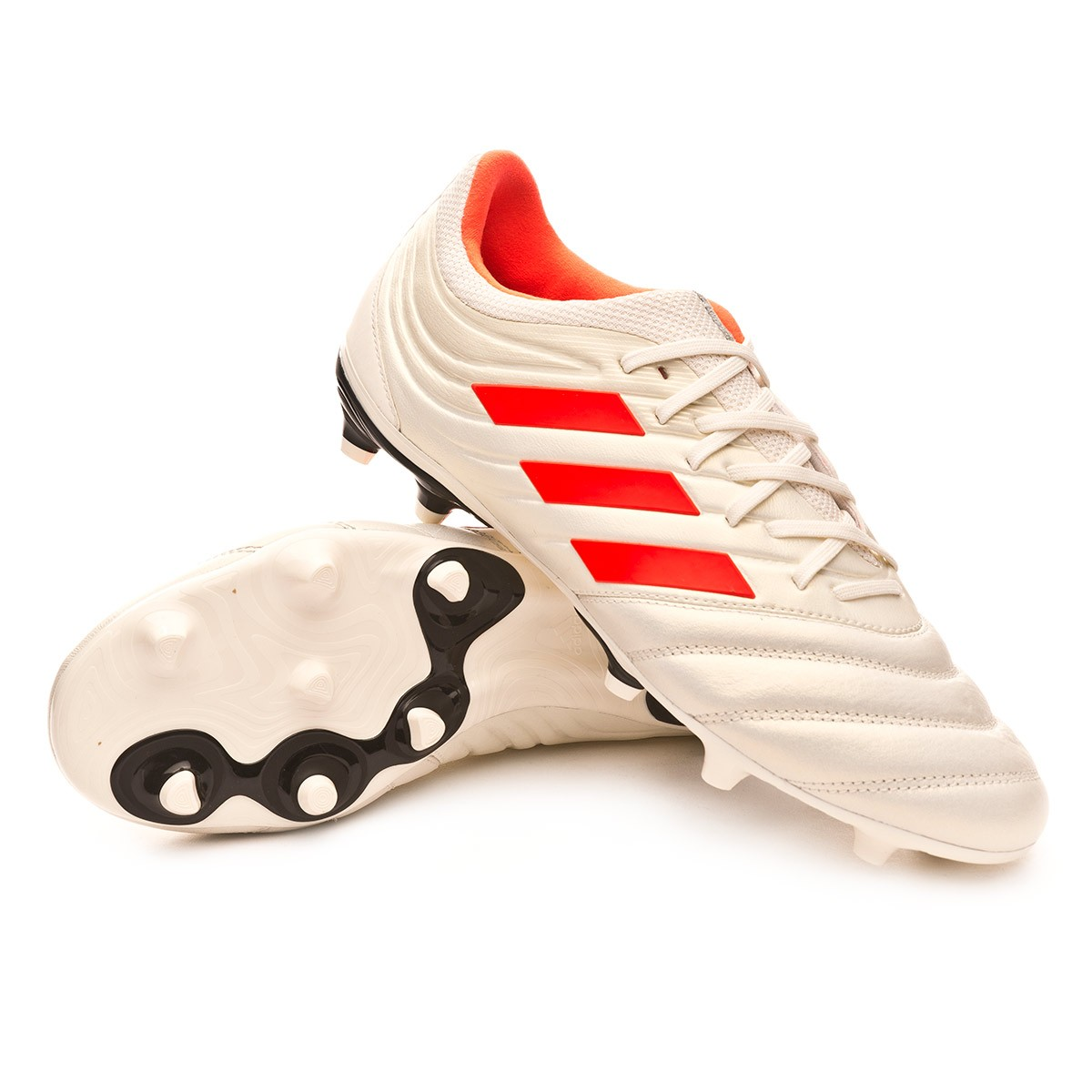 Boot adidas Copa 19.3 FG Off white-Solar red-Core black - Football ... e2f01800c8d2b