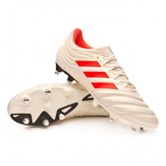 Chuteira  adidas Copa 19.3 SG Off white-Solar red-Core black
