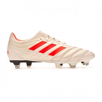 Chuteira adidas Copa 19.3 SG Off white-Solar red-Core black