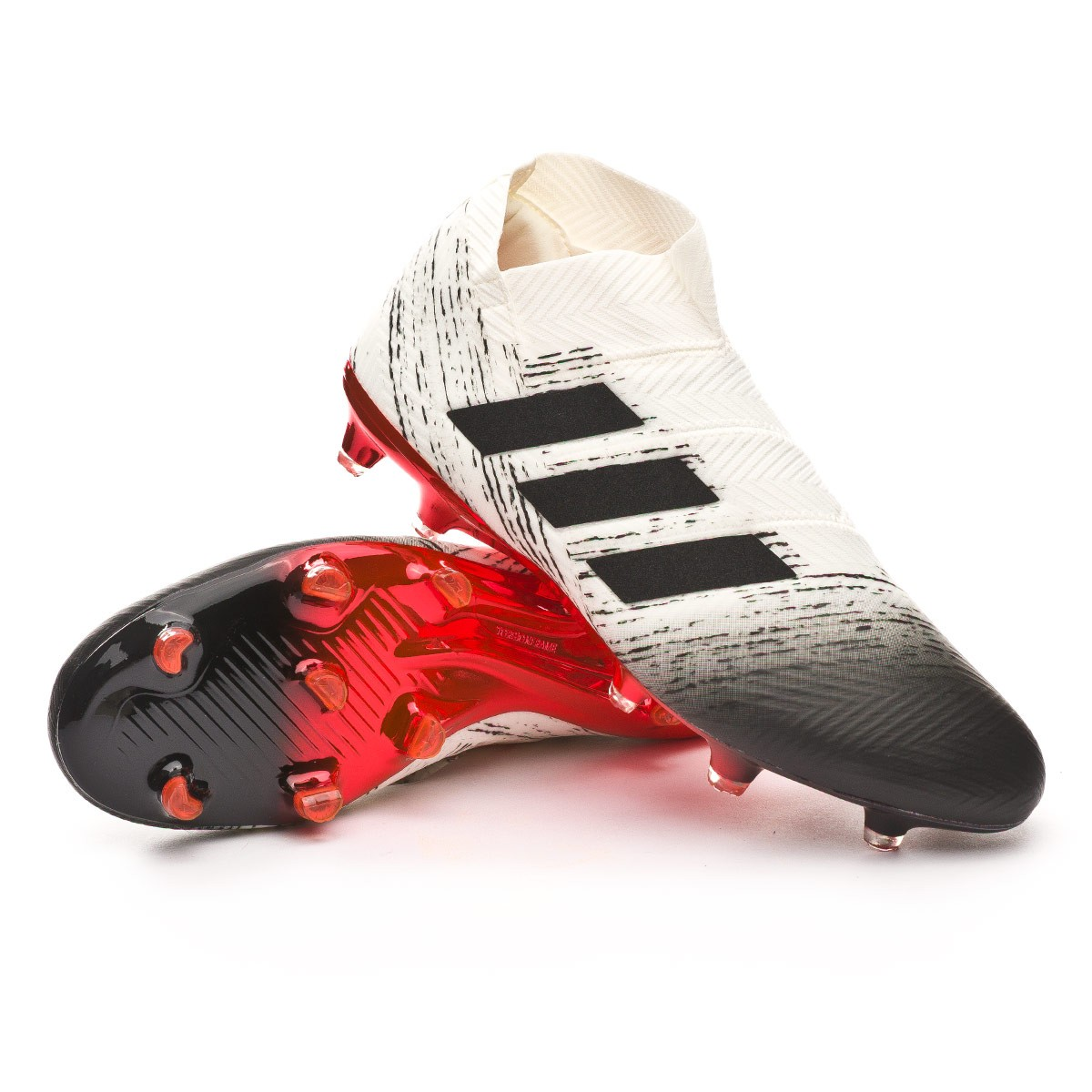 a53e64ab162016 Boot adidas Nemeziz 18+ FG Off white-Core black-Active red ...