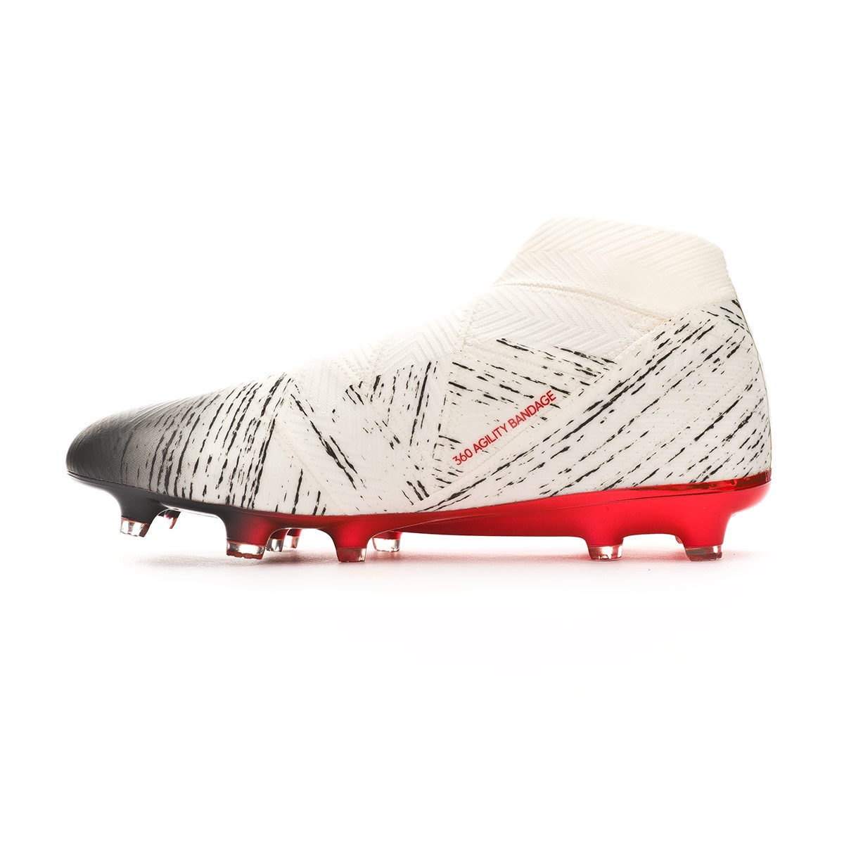 8d8bee585cd91f Boot adidas Nemeziz 18+ FG Off white-Core black-Active red - Football store  Fútbol Emotion