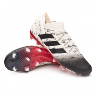 Boot  adidas Nemeziz 18.1 FG Off white-Core black-Active red