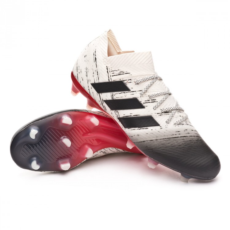 ecf8236ee52 Chuteira adidas Nemeziz 18.1 FG Off white-Core black-Active red ...