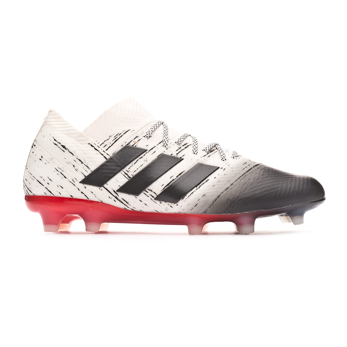 bdb252f7ace9 Football Boots adidas Nemeziz 18.1 FG Off white-Core black-Active red -  Tienda de fútbol Fútbol Emotion