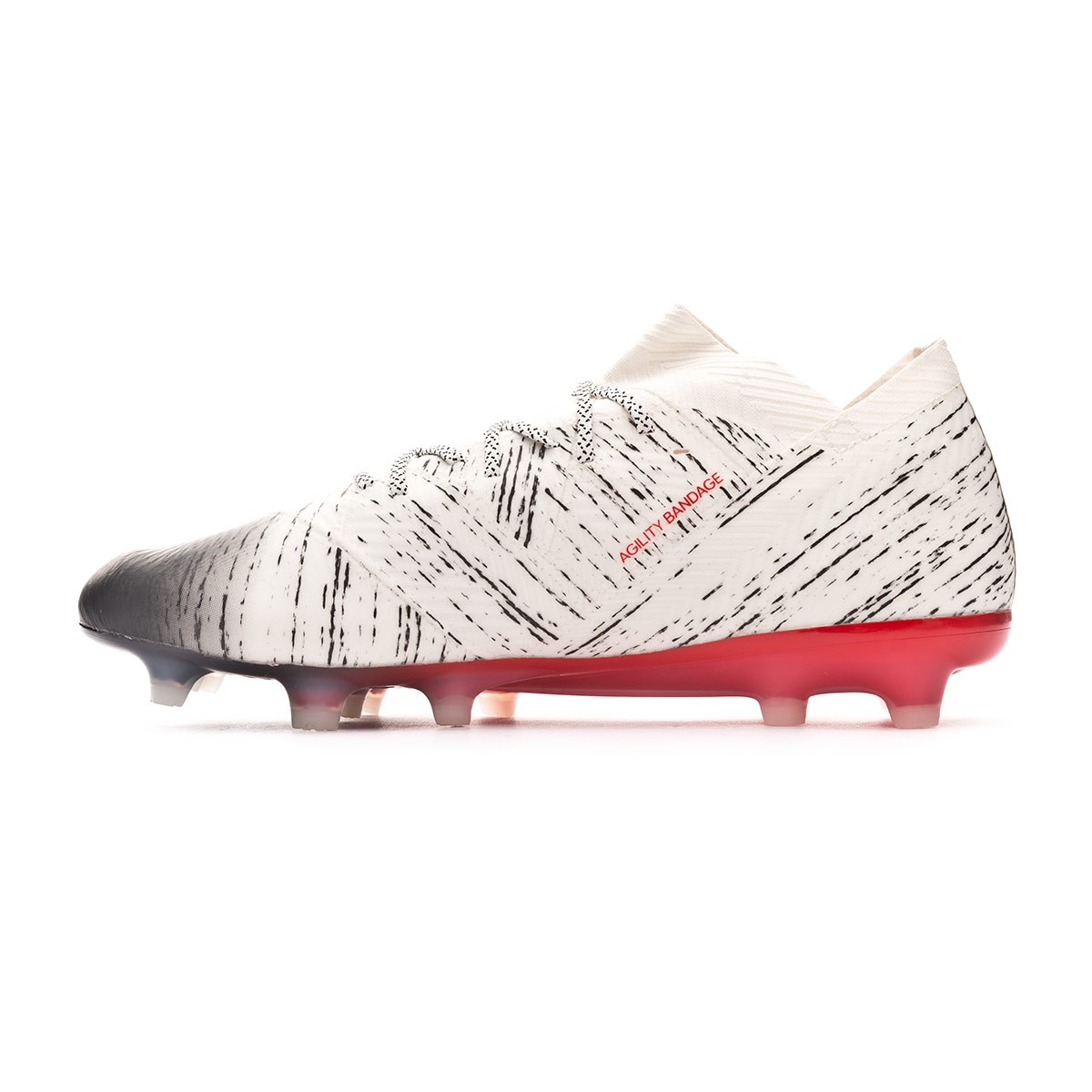 22b72acbe10 Chuteira adidas Nemeziz 18.1 FG Off white-Core black-Active red - Loja de  futebol Fútbol Emotion