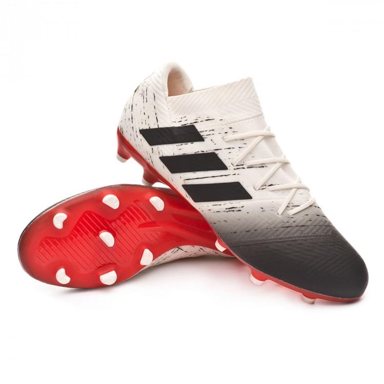 dc06f3680ea4 Football Boots adidas Nemeziz 18.2 FG Off white-Core black-Active ...