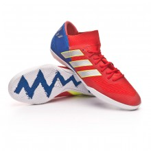 e6442fe1b35 Tenis Nemeziz Messi Tango 18.3 IN Active red-Silver metallic-Football blue