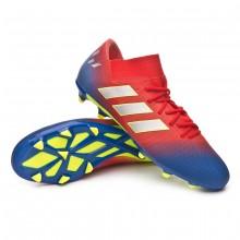 72745624f4a30 Chuteira Nemeziz Messi 18.3 FG Active red-Silver metallic-Football blue