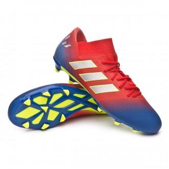 9e2e389ea26d1 Zapatos de fútbol adidas Nemeziz Messi 18.3 FG Active red-Silver metallic-Football  blue