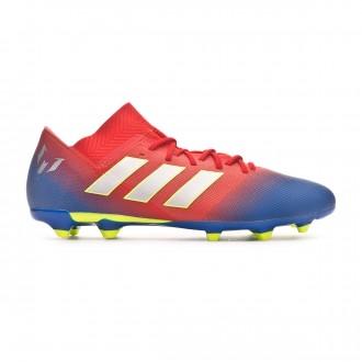 Chuteira adidas Nemeziz Messi 18.3 FG Active red-Silver metallic-Football blue
