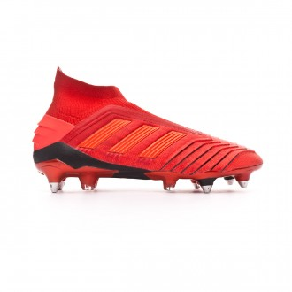 Chaussure de foot  adidas Predator 19+ SG Active red-Solar red-Core black