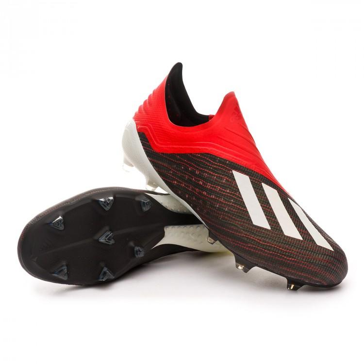 b8e755509a Chuteira adidas X 18+ FG Core black-White-Active red - Loja de ...