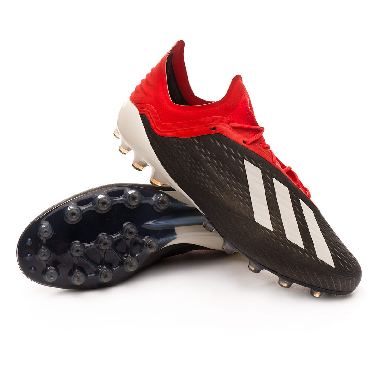 ed4f6ab1a Football Boots adidas X 18.1 AG Core black-White-Active red - Tienda ...