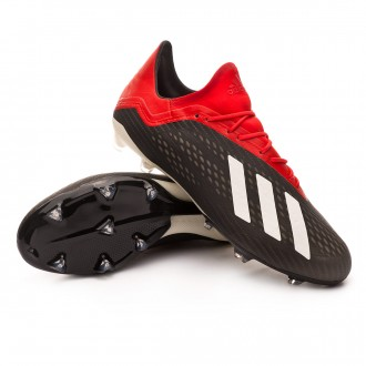 Bota  adidas X 18.2 FG Core black-Off white-Active red
