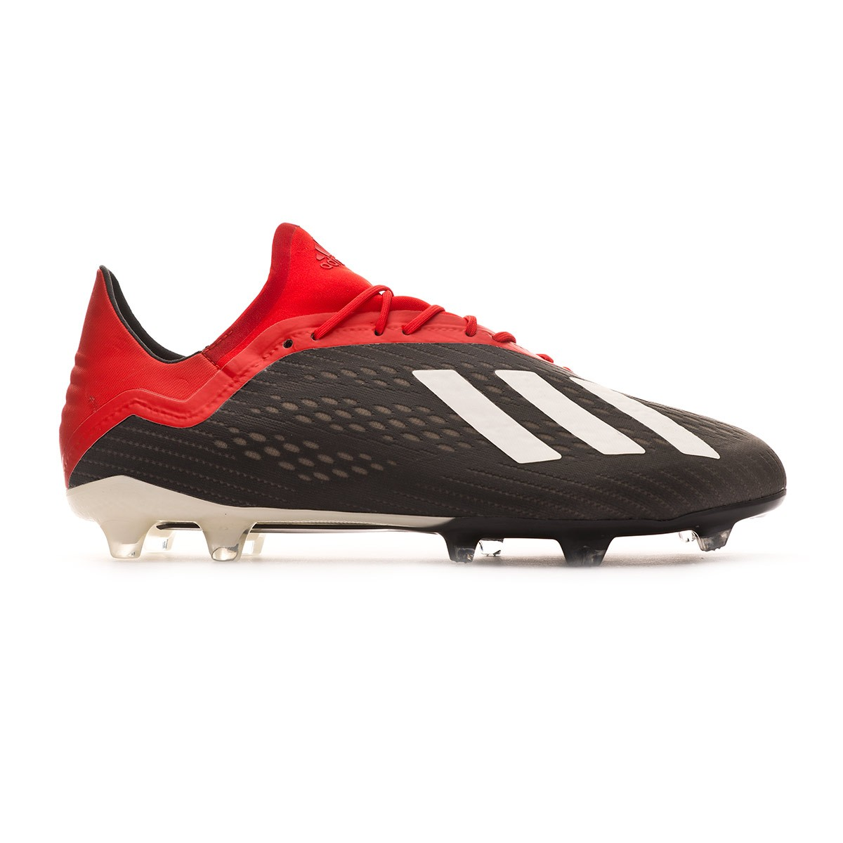 88023cdc3e7 Chuteira adidas X 18.2 FG Core black-Off white-Active red - Loja de futebol  Fútbol Emotion