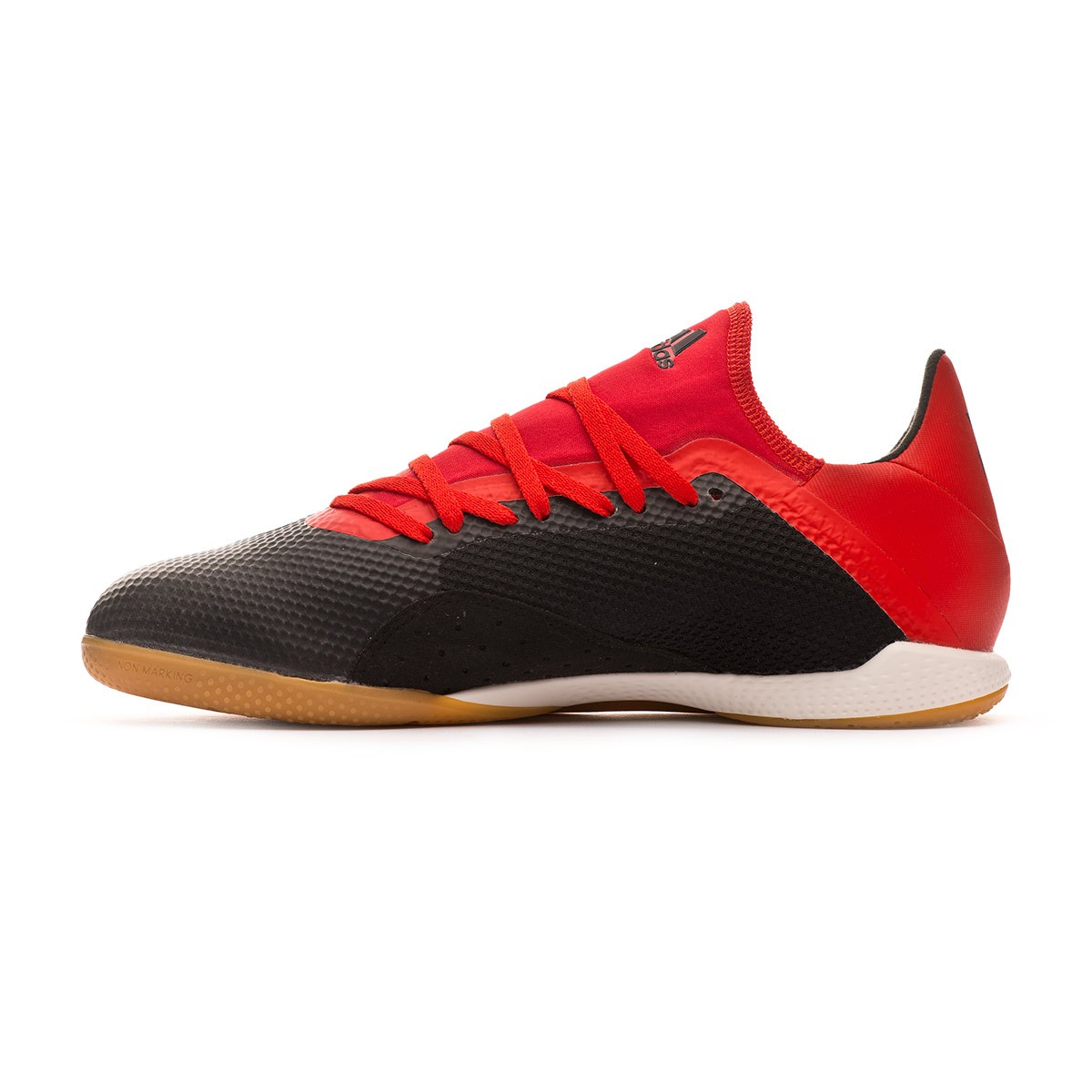 Futsal Boot adidas X Tango 18.3 IN Core black-Off white-Active red - Leaked  soccer 3be88ca1dfd45