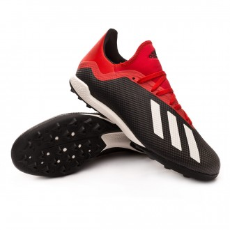 Zapatilla  adidas X Tango 18.3 Turf Core black-Off white-Active red