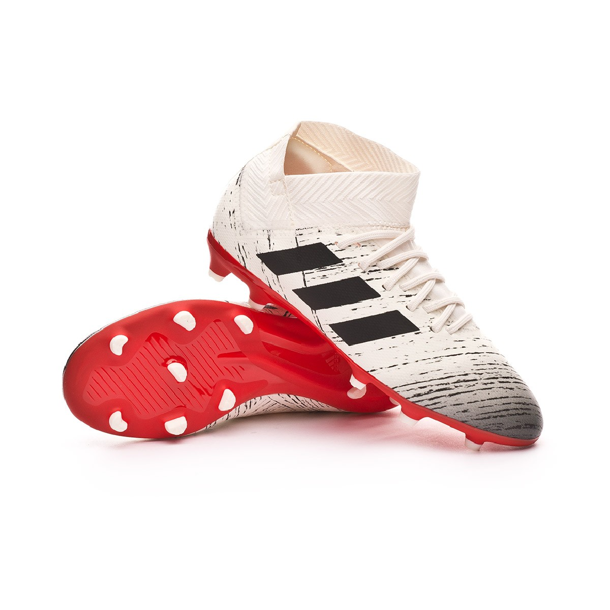 74e6f66cca2 Chuteira adidas Nemeziz 18.3 FG Niño Off white-Core black-Active red - Loja  de futebol Fútbol Emotion