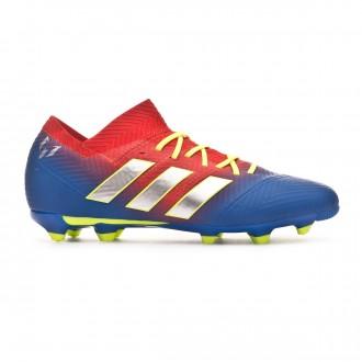 Bota  adidas Nemeziz Messi 18.1 FG Niño Active red-Silver metallic-Football blue