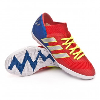Futsal Boot  adidas Kids Nemeziz Messi Tango 18.3 IN  Active red-Silver metallic-Football blue