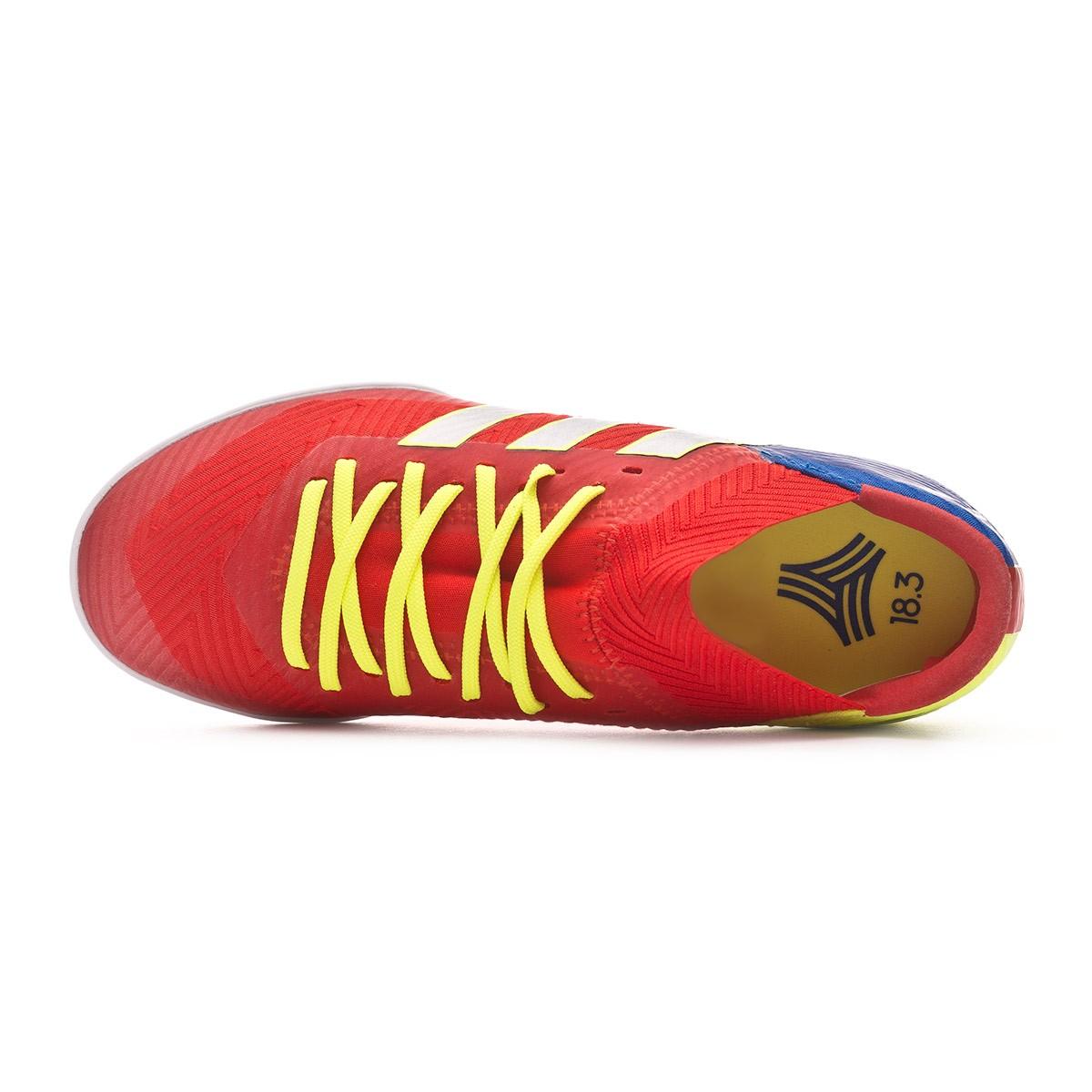 87687b773665c Tenis adidas Nemeziz Messi Tango 18.3 IN Niño Active red-Silver metallic-Football  blue - Tienda de fútbol Fútbol Emotion
