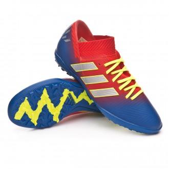 Zapatilla  adidas Nemeziz Messi Tango 18.3 Turf Niño Active red-Silver metallic-Football blue