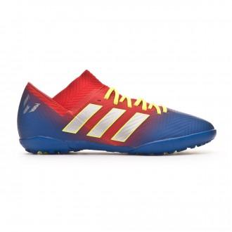 Sapatilhas adidas Nemeziz Messi Tango 18.3 Turf Crianças Active red-Silver metallic-Football blue