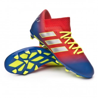 Bota  adidas Nemeziz Messi 18.3 FG Niño Active red-Silver metallic-Football blue