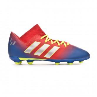 Chuteira adidas Nemeziz Messi 18.3 FG Crianças Active red-Silver metallic-Football blue