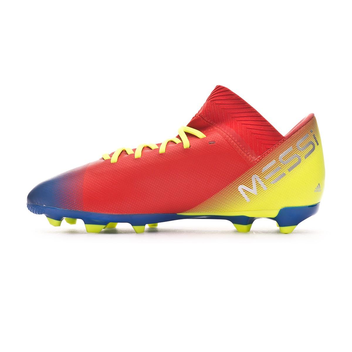 b59d12be973a Football Boots adidas Kids Nemeziz Messi 18.3 FG Active red-Silver metallic- Football blue - Tienda de fútbol Fútbol Emotion