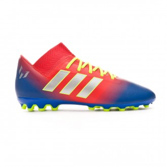 Bota  adidas Nemeziz Messi 18.3 AG Niño Active red-Silver metallic-Football blue