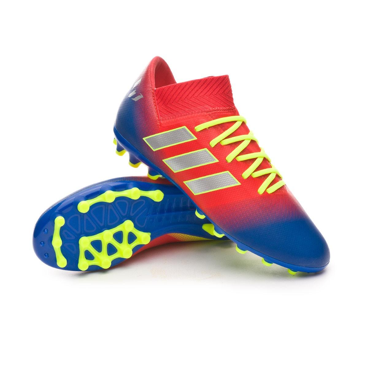 312c4957d Scarpe adidas Nemeziz Messi 18.3 AG Junior Active red-Silver  metallic-Football blue - Negozio di calcio Fútbol Emotion