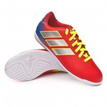 Zapatilla Nemeziz Messi Tango 18.4 IN Niño Active red-Silberfoil-Football blue