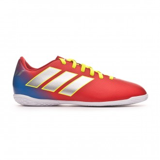 Futsal Boot  adidas Kids Nemeziz Messi Tango 18.4 IN Active red-Silberfoil-Football blue